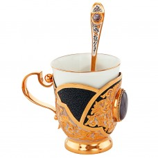 Кофейная чашка с ложкой